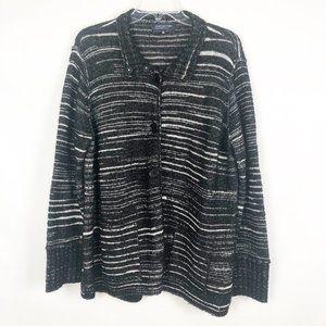 Jones New York I Long Sleeve Button Down Sweater